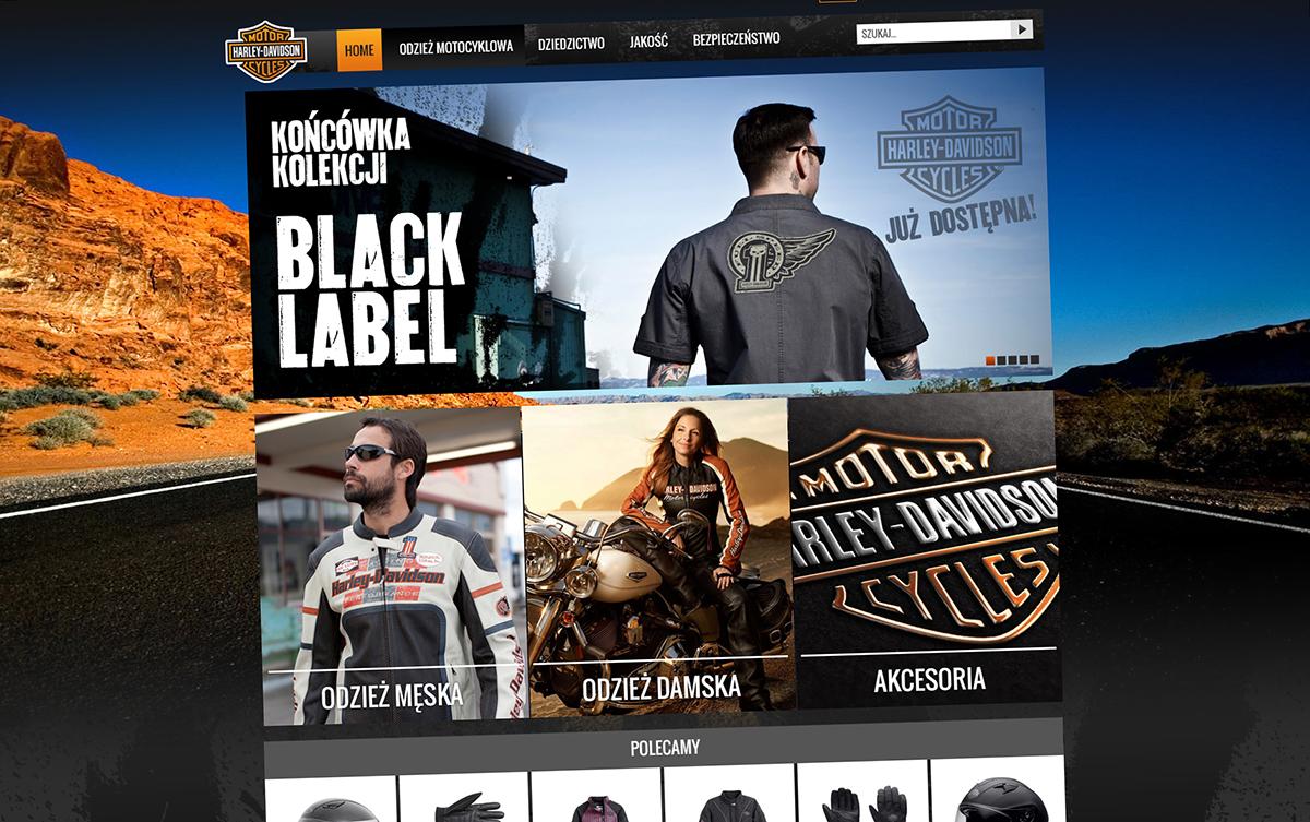 Projekt sklepu internetowego Harley-Davidson Online Outlet