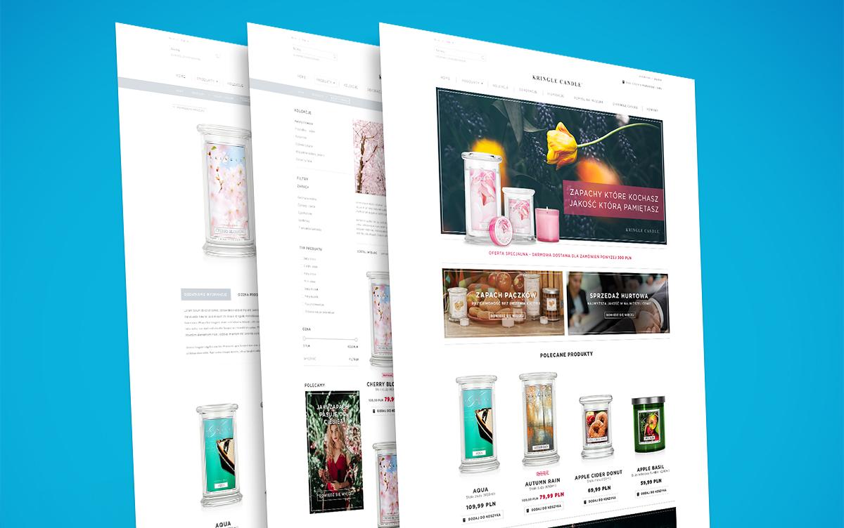 Projekt graficzny sklepu internetowego KringleCandle