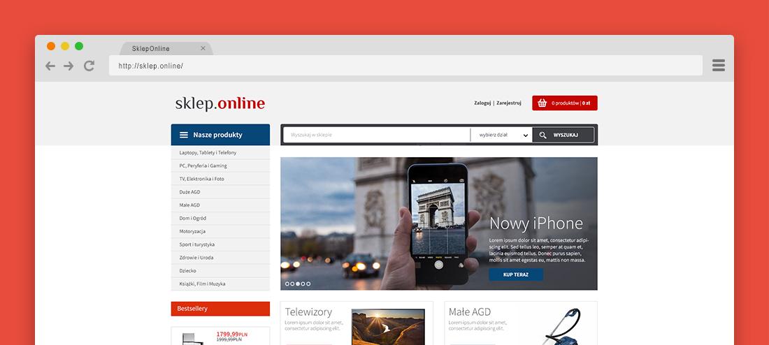 Sklep Online Projekt Graficzny Sklepu Internetowego Dla Infoserwis