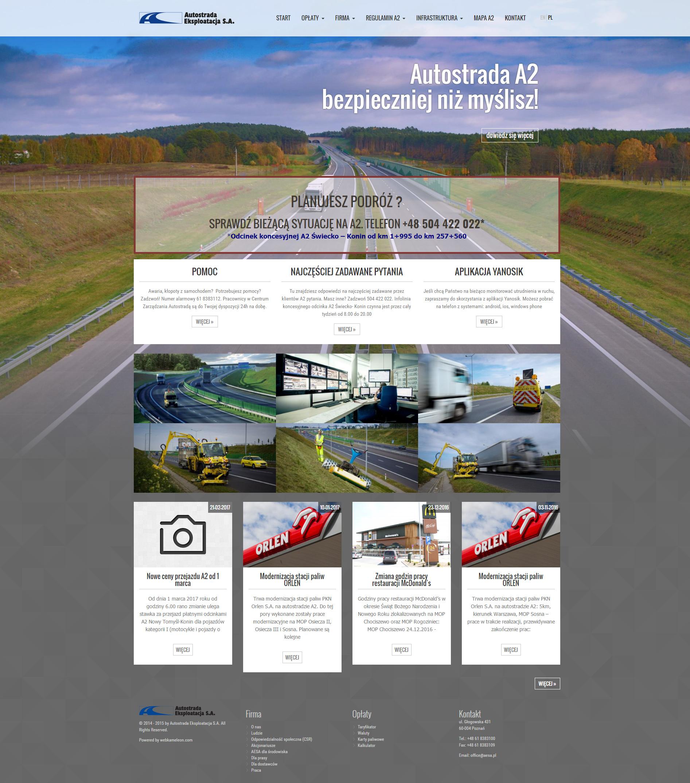 strona internetowa Autostrada Eksploatacja